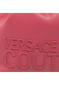 Różowa torebka worek Versace Jeans Couture skórzana, klasyczna