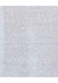 CAPPELLINI - Niebieski sweter z lnu. Kolor: niebieski. Materiał: len