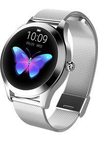 Srebrny zegarek KingWear smartwatch