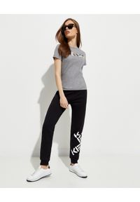 Szary t-shirt Kenzo w kolorowe wzory