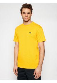 Vans T-Shirt Mn Off The Wall Clasic VN0A49R7 Żółty Classic Fit. Kolor: żółty