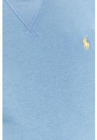 Niebieska bluza nierozpinana Polo Ralph Lauren casualowa, gładkie, polo, na co dzień