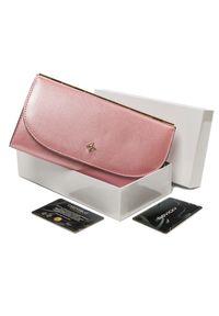 MILANO DESIGN - Portfel damski różowy Milano Design SF1833-SAF PINK. Kolor: różowy. Materiał: skóra ekologiczna