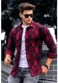 IVET - Koszula męska JACKSON BORDO. Kolor: wielokolorowy. Długość rękawa: długi rękaw. Długość: długie