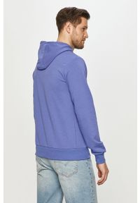 Niebieska bluza nierozpinana Fila z kapturem, gładkie, na co dzień