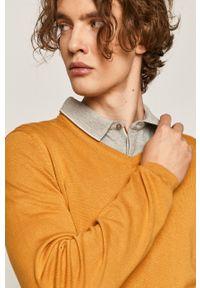 Pomarańczowy sweter medicine casualowy, na co dzień