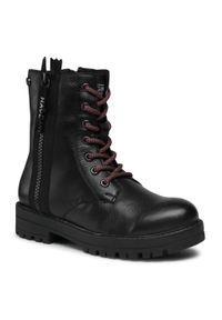 Czarne buty zimowe Gioseppo z cholewką