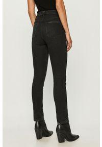 Czarne jeansy TALLY WEIJL casualowe, z podwyższonym stanem