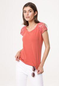 Pomarańczowy t-shirt Born2be