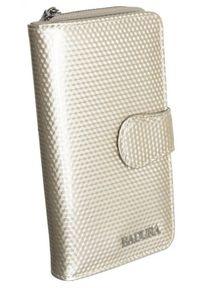 Portfel damski beżowy Badura B-76116P-SBR. Kolor: beżowy. Materiał: skóra