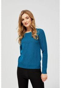 MOODO - Sweter z ozdobnym splotem. Materiał: akryl, poliamid, wiskoza, poliester. Długość rękawa: długi rękaw. Długość: długie. Wzór: ze splotem