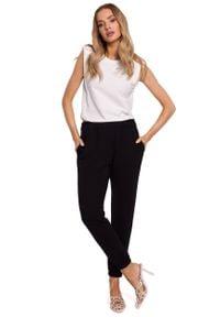 MOE - Dresowe Spodnie Joggery - Czarne. Kolor: czarny. Materiał: dresówka