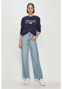 Niebieska bluza Pepe Jeans bez kaptura, z długim rękawem, długa