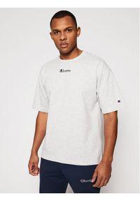 Champion T-Shirt Deconstructed C Logo 214420 Szary Custom Fit. Kolor: szary