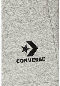 Converse - Szorty. Kolor: szary. Materiał: dzianina. Wzór: aplikacja