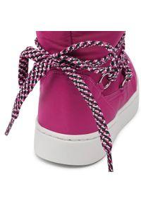 Bibi - Śniegowce BIBI - Urban Boots 1049091 Pomegranate. Okazja: na spacer. Kolor: różowy. Materiał: materiał. Szerokość cholewki: normalna. Wzór: aplikacja. Sezon: zima