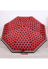 Parasol składany DOPPLER PA142 czerwony. Kolor: czerwony. Materiał: materiał
