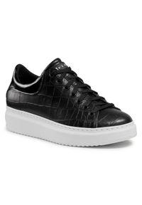 Nessi - Sneakersy NESSI - 21527 Czarny Coco. Okazja: na co dzień. Kolor: czarny. Materiał: skóra. Sezon: lato. Styl: elegancki, sportowy, casual