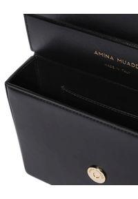 AMINA MUADDI - Czarna torebka Amini Pernille. Kolor: czarny. Materiał: z tłoczeniem