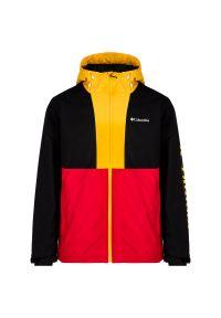Kurtka sportowa columbia w kolorowe wzory, narciarska