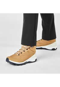 Brązowe buty trekkingowe salomon trekkingowe