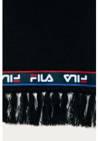 Niebieski szalik Fila z aplikacjami