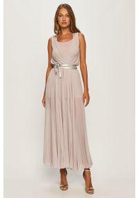 Fioletowa sukienka Patrizia Pepe maxi, gładkie, rozkloszowana, na ramiączkach
