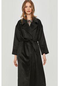 Czarny płaszcz Answear Lab bez kaptura, gładki