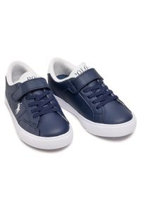 Polo Ralph Lauren - Sneakersy POLO RALPH LAUREN - Theron IV Ps RF102984 Navy/White. Okazja: na co dzień. Zapięcie: rzepy. Kolor: niebieski. Materiał: skóra ekologiczna, materiał. Szerokość cholewki: normalna. Styl: casual