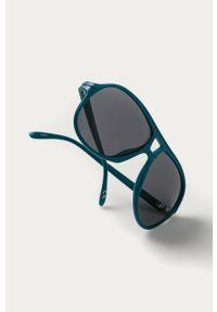 Turkusowe okulary przeciwsłoneczne Vans gładkie