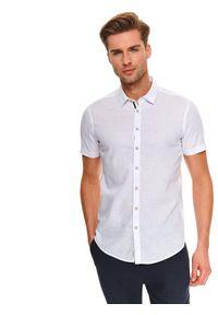 Biała koszula TOP SECRET na co dzień, z krótkim rękawem
