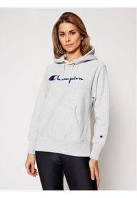 Champion Bluza Script Logo 113794 Szary Regular Fit. Kolor: szary