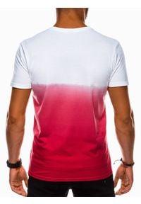 Czerwony t-shirt Ombre Clothing