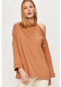 Answear Lab - Bluza bawełniana. Kolor: brązowy. Materiał: bawełna. Długość rękawa: długi rękaw. Długość: długie. Styl: wakacyjny