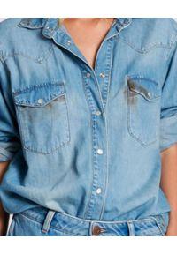 ONETEASPOON - Jeansowa koszula Cowboy Western. Kolor: niebieski. Materiał: jeans. Długość rękawa: długi rękaw. Długość: długie