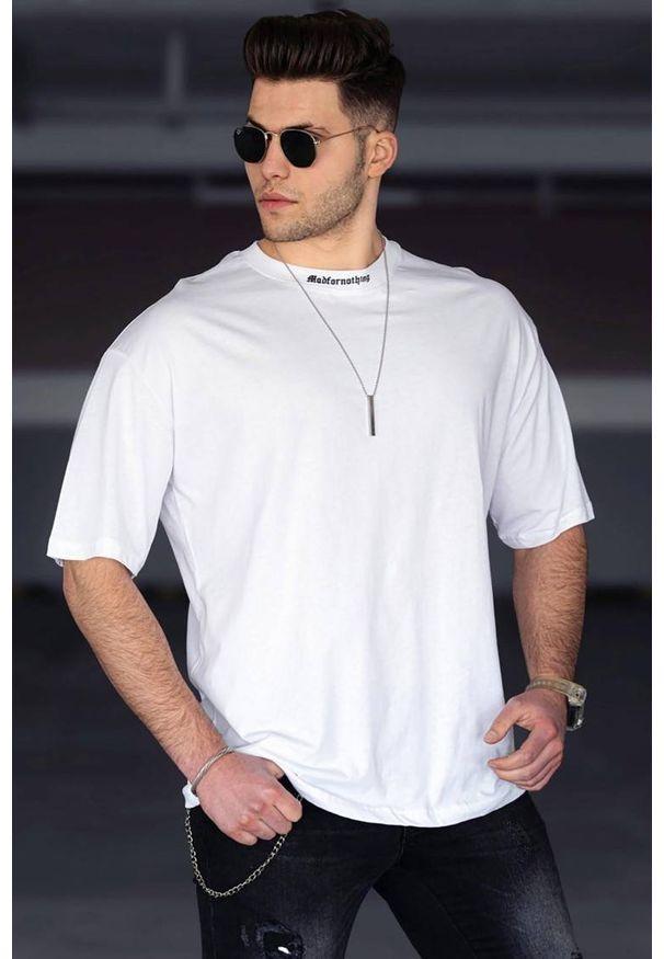 Biały t-shirt IVET casualowy, na co dzień
