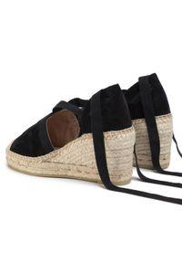 Czarne sandały Kanna