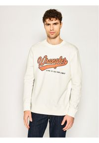Wrangler Bluza Seasonal Logo W6A5HA737 Biały Regular Fit. Kolor: biały