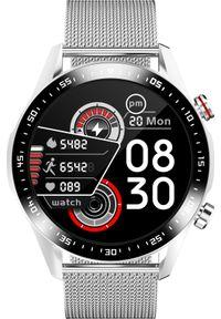 Smartwatch KingWear TEFITI E12 Smartwatch 2021, inteligentny zegarek z pomiarem tętna Dual BT i nawigacją GPS, czarna stal nierdzewna. Rodzaj zegarka: smartwatch. Kolor: czarny