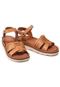 Badura - Sandały BADURA - B4084-69 Brąz 263. Kolor: brązowy. Materiał: skóra. Sezon: lato