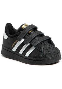 Czarne półbuty Adidas na spacer, z cholewką, na rzepy