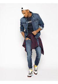 Calvin Klein Jeans T-Shirt Core Institutional Logo J30J307855 Granatowy Regular Fit. Kolor: niebieski