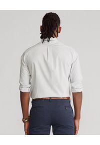 Ralph Lauren - RALPH LAUREN - Koszula w szachownicę Gingham Custom Fit. Typ kołnierza: polo. Kolor: szary. Materiał: bawełna. Wzór: haft
