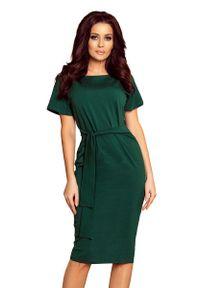 Zielona sukienka wieczorowa Numoco midi
