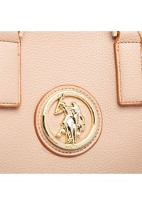 U.S. Polo Assn - Torebka U.S. POLO ASSN. - Brookshire Doub. Hand. Bag BEUBS5064WVP547 Light Taupe. Kolor: beżowy. Materiał: skórzane. Styl: klasyczny