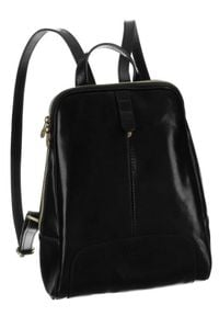 Plecak w stylu vintage czarny Badura T_D193CZ_CD. Kolor: czarny. Materiał: skóra. Styl: vintage
