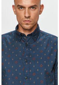 Niebieska koszula Selected z długim rękawem, button down, długa, na co dzień