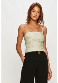 Zielona bluzka Miss Sixty casualowa, krótka, na ramiączkach
