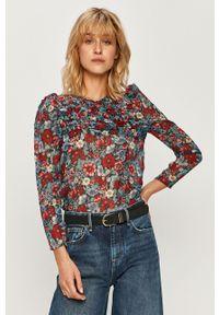 Wielokolorowa bluzka Pepe Jeans z okrągłym kołnierzem, w kwiaty