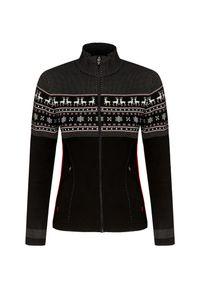 Czarny sweter Newland sportowy, z golfem